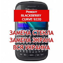 ремонт BlackBerry Curve 9220 замена стекла и экрана