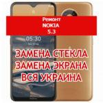 ремонт Nokia 5.3 замена стекла и экрана