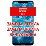 ремонт Nokia 8.1 замена стекла и экрана
