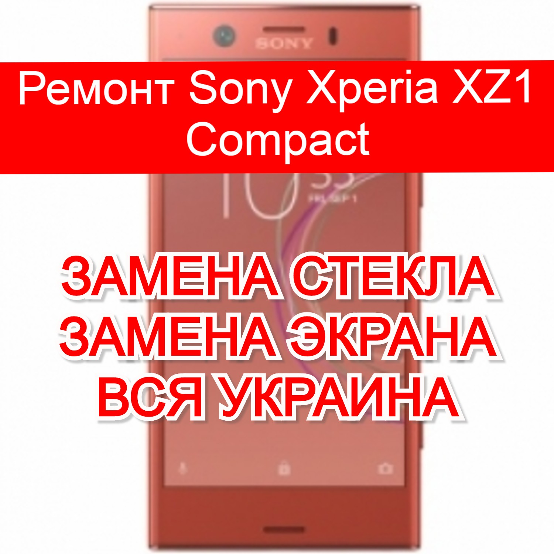 Ремонт Sony Xperia XZ1 Compact замена стекла и экрана
