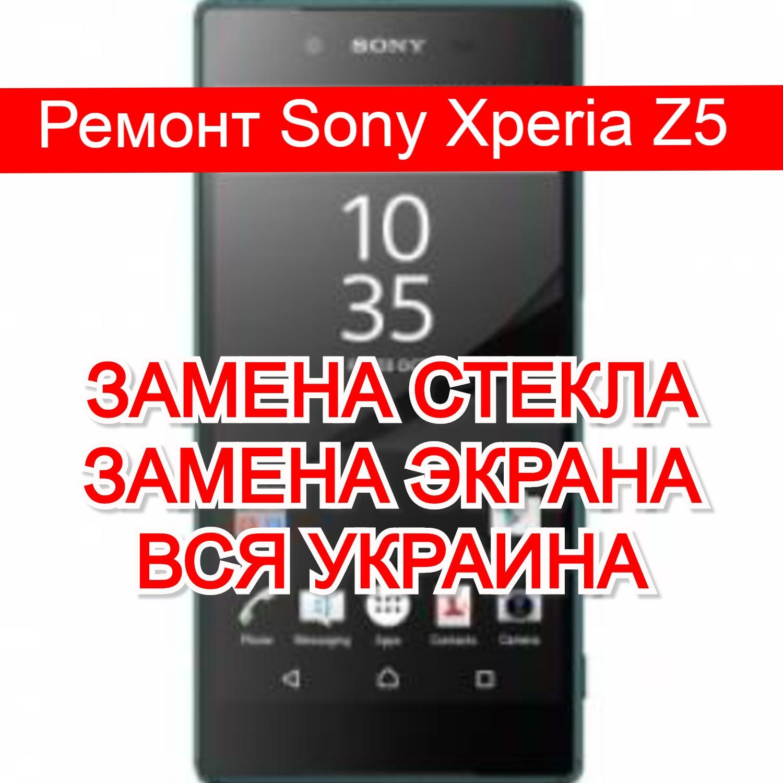 Ремонт Sony Xperia Z5 замена стекла и экрана