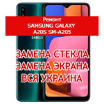ремонт Samsung Galaxy A20s SM-A205 замена стекла и экрана