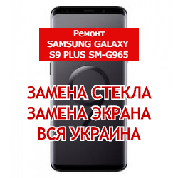 ремонт Samsung Galaxy S9 Plus SM-G965 замена стекла и экрана