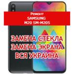 ремонт Samsung M20 SM-M205 замена стекла и экрана