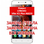 ремонт Lenovo Vibe K5 Plus A6020 замена стекла и экрана