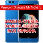 ремонт Xiaomi Mi Note 3 замена стекла и экрана