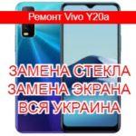 Ремонт Vivo Y20a замена стекла и экрана