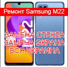 Ремонт Samsung M22 замена стекла и экрана